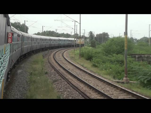Brindavan exp - Beautiful U curve after Jolarpettai Jn Travel Video