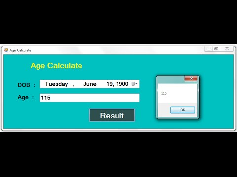 Visual basic 6. 0 simple age calculator vb6 | dream. In. Code.