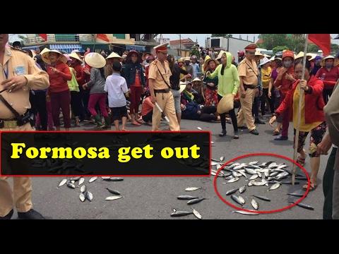 Nóng: Dân vứt cá lên Quốc lộ biểu tình chống Formosa [108tv]