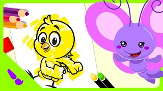 Pintura Mágica - Pollito Amarillito - Gallina Pintadita Mini