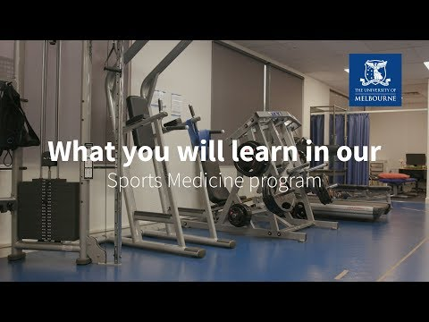 Study the Master of Sports Medicine online at the University of Melbourne: What you will learn