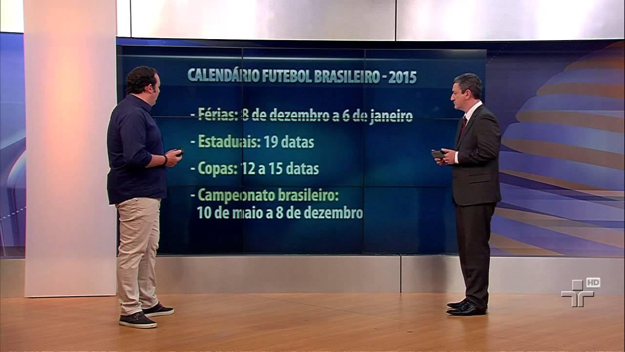 CBF divulga Calendário Oficial do Futebol Brasileiro em 2015 - YouTube 3130365f74d9d