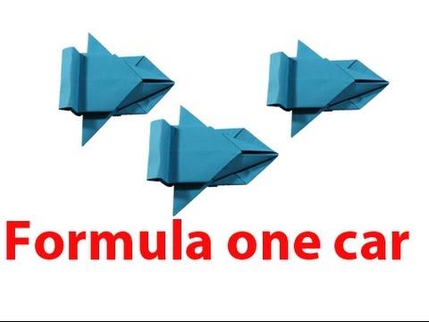 How To Make Formula One Car Origami Tutorials