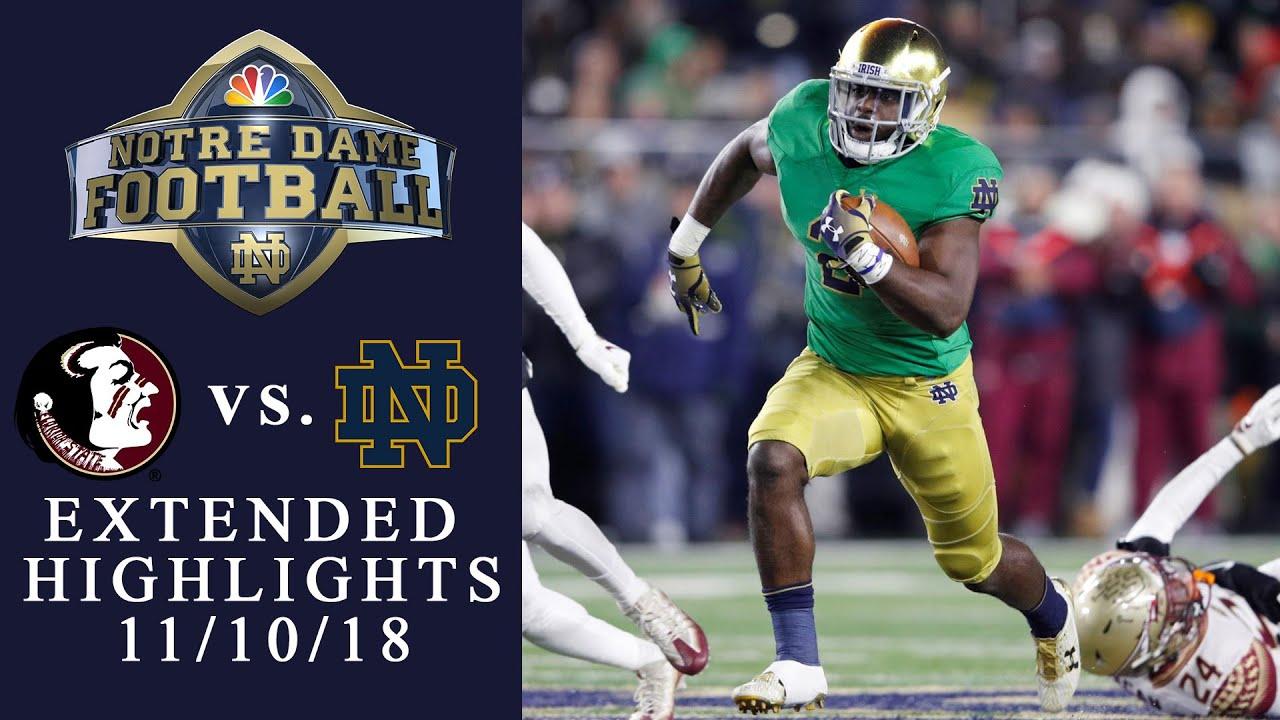 Fsu Vs Notre Dame I Extended Highlights I 11 10 18 I Nbc Sports Youtube