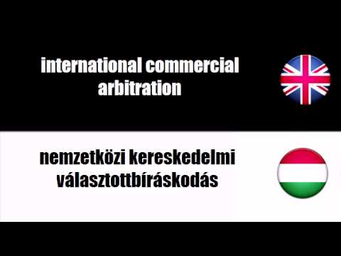 ENGLISH HUNGARIAN   commercial arbitration
