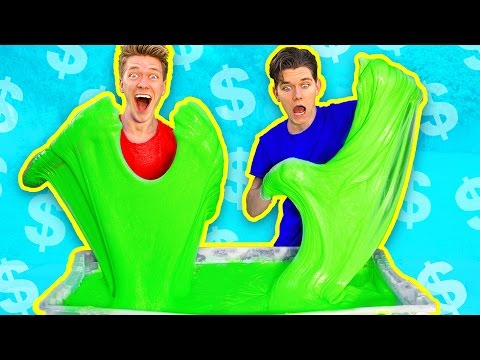 Thumbnail: $1000 Slime Challenge! MOST EXPENSIVE DIY Giant Fluffy Slime!!
