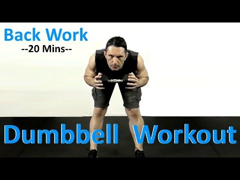 Back Dumbbell Workout At Home - Lats & Rhomboids Workout