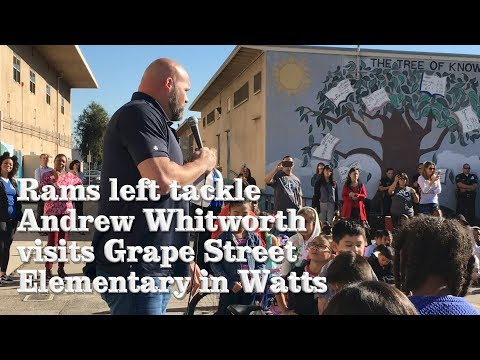 Rams Left Tackle Surprises Elementary School With Bicycles | Los Angeles Times