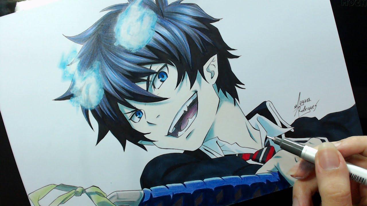 Cute Itachi Wallpaper Speed Drawing Okumura Rin Ao No Exorcist Youtube