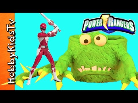 Power Rangers Play-Doh Monster Cake! Surprise Toy Fun Story Review HobbyKidsTV