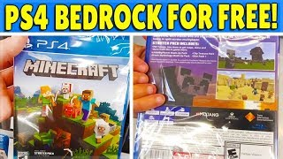 Minecraft PS4 Bedrock Edition - HOW To Get PS4 Bedrock FREE + All Features