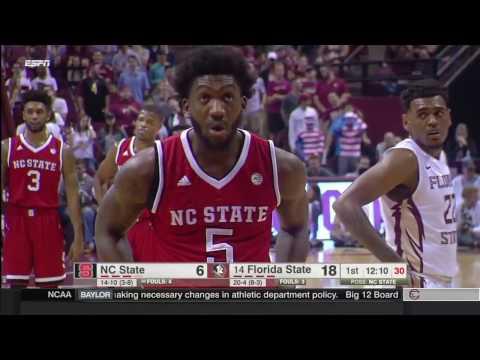 NC State vs Florida State basketball 2017 Feb  08