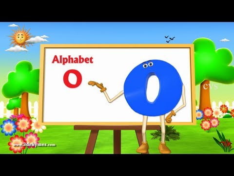 Letter O Song - 3D Animation Learning English Alphabet ABC Songs For children