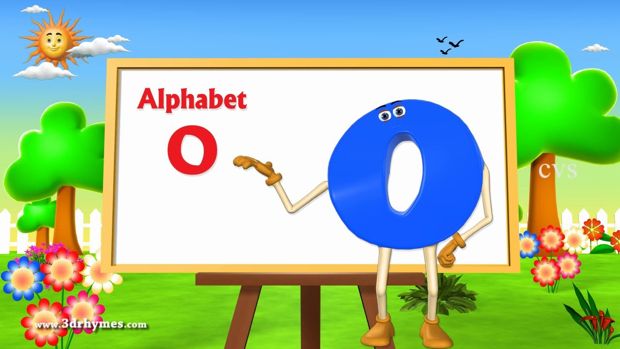 letter o song letter o song 3d animation learning alphabet abc 22922 | maxresdefault