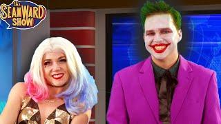 JOKER & HARLEY QUINN do the News - Batman hilarious Parody! TheSeanWardShow