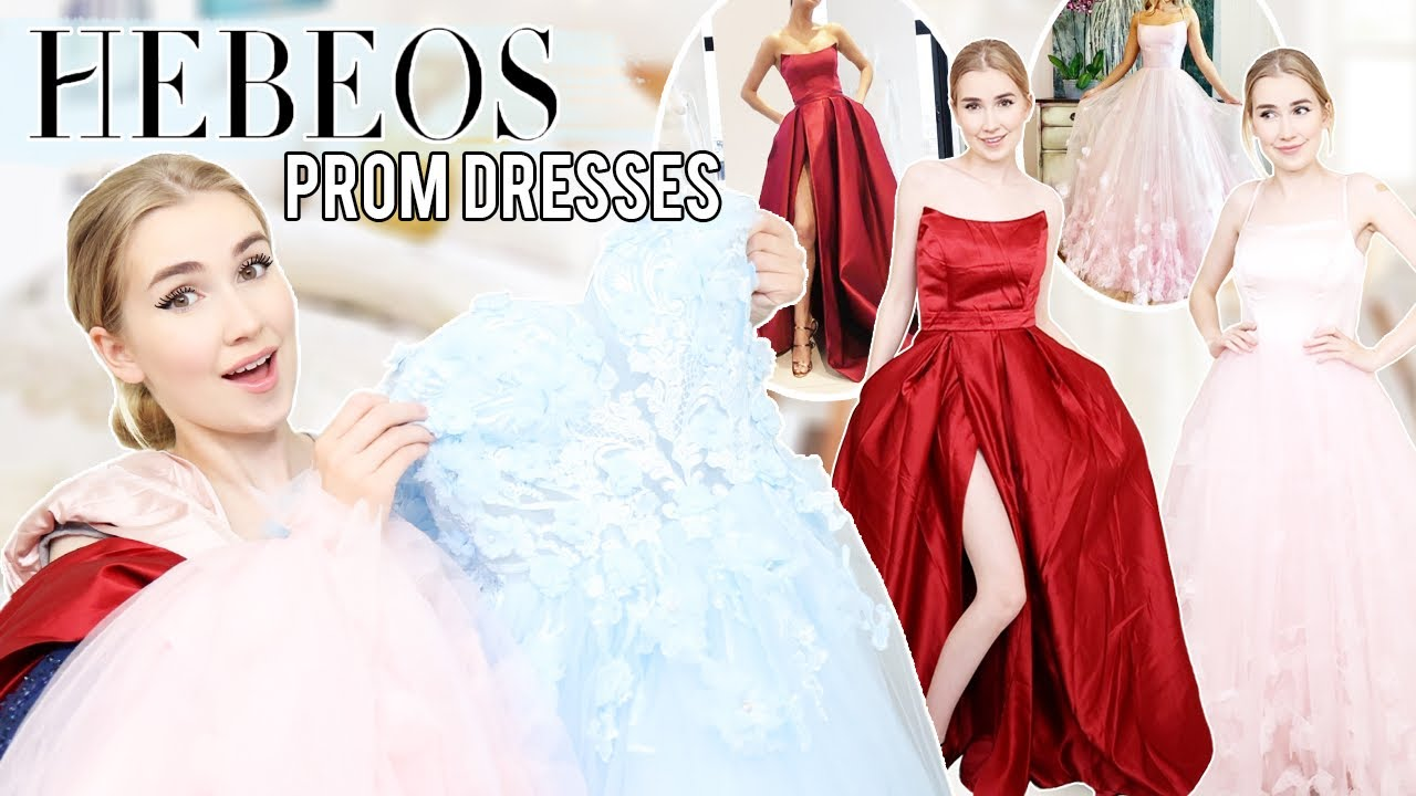 TRYING ON HEBEOS PROM DRESSES... Again !!