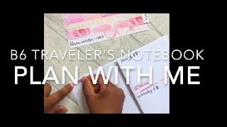 plan with me b6 travelers notebook