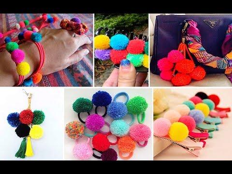 30 ideas con pompones de lana youtube - Manualidades con pompones ...