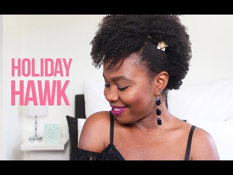 Holiday Hawk on 4C Hair with Cantu | African Natural Hair Blogger
