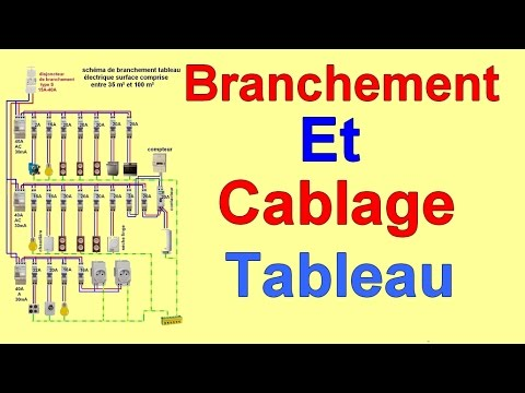 branchement cablage installation tableau electrique maison youtube. Black Bedroom Furniture Sets. Home Design Ideas