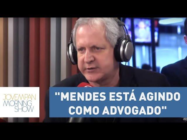 """""""Gilmar Mendes está agindo como advogado"""" explica Augusto Nunes sobre prisão em 2ª instância"""