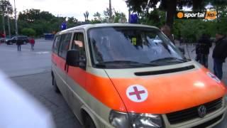 Линейка откара Китанов, който се контузи в банята след дербито
