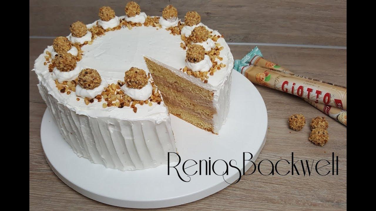 Giotto Haselnuss Torte WAHNSINNIG Einfach & Lecker - YouTube  Giotto Haselnus...