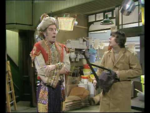 Roy Barraclough in cult comedy Pardon My Genie DVD, intro and first scene.