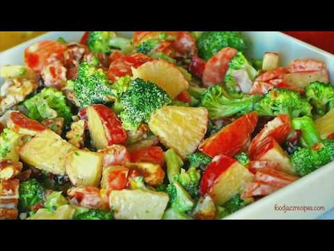 Broccoli Apple Salad | Healthy Fruit & Vegetable Salad