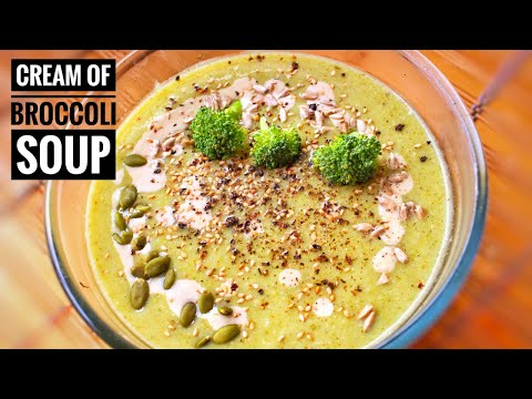 Cream of Broccoli Soup Vegan Easy Recipe