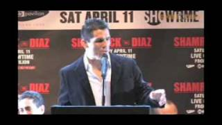 Frank Shamrock vs. Nick Diaz Strikefore press conference