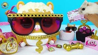 ЛОЛ Декодер ВЕЛИЧЕЗНИЙ ВИХОВАНЕЦЬ з сюрпризами Огляд іграшки з хом'ячком Відео для дітей LOL BIGGIE PETS