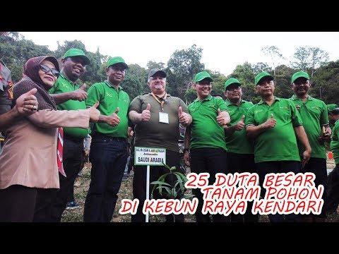 HPS Ke-39 : 25 Duta Besar Tanam Pohon Di Kebun Raya Kendari
