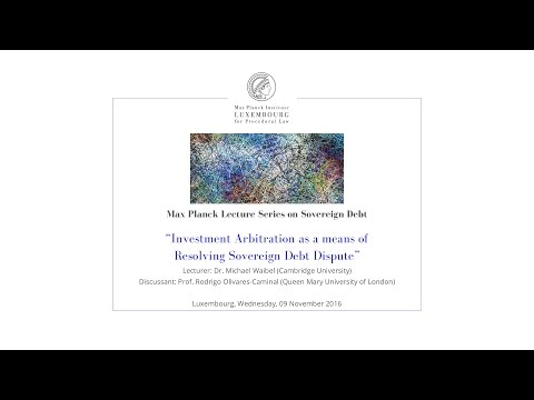 Investment Arbitration as a means of Resolving Sovereign Debt Dispute - 9 Nov 2016