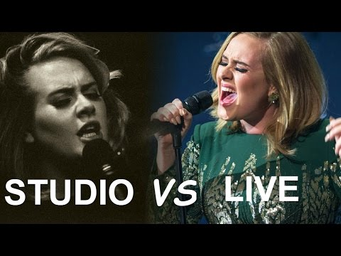 Adele | STUDIO VS LIVE (Expectation vs Reality)