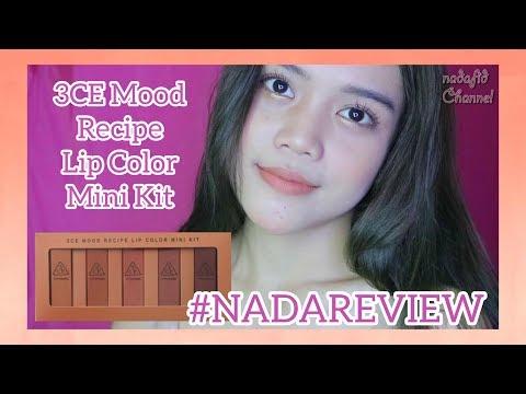 [review]-3ce-mood-recipe-lip-color-mini-kit!!