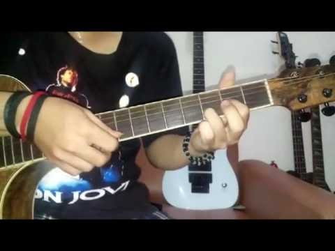 bon jovi - wanted dead or alive , tutorial how to play guitar - YouTube