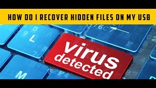 how do i recover hidden files on my usb ( how to remove hidden files virus )