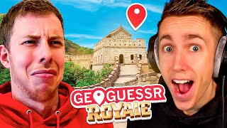 My FIRST time playing GeoGuessr BATTLE ROYALE w/Miniminter