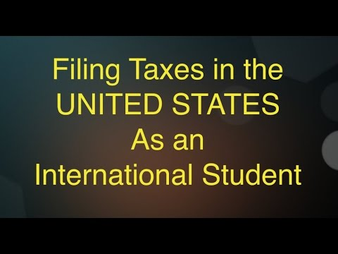 Filing Taxes in the US as an International Student..!!!