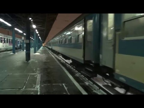 Budapest Keleti: joint InterCity Traianus, Bononia and Csanád is arriving from Sofia and Bucharest