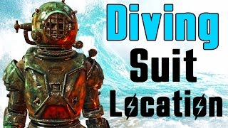 Fallout 4 Diving Suit Location (How to get Unique Hidden Far Harbor Underwater Suit)