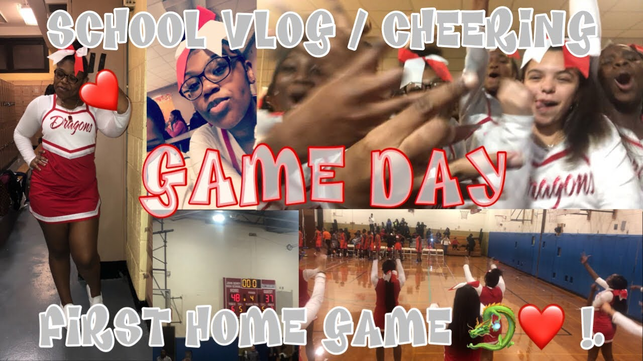 HIGH SCHOOL VLOG / CHEER WITH ME ! / HIGH SCHOOL BASKETBALL GAME NYC EDITION 🗽💙.