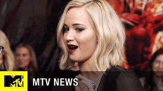 Jennifer Lawrence Guesses 'Hunger Games' Baby Face Mash Ups | MTV News