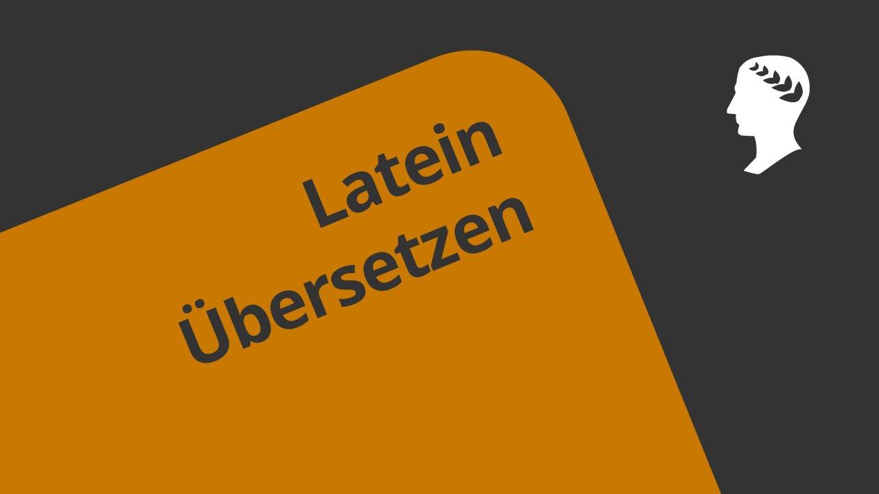 Latein übersetzter
