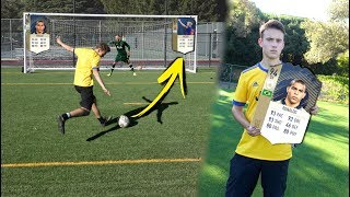 Football vs fifa 18 challenge (messi & ronaldo cards fut 18)
