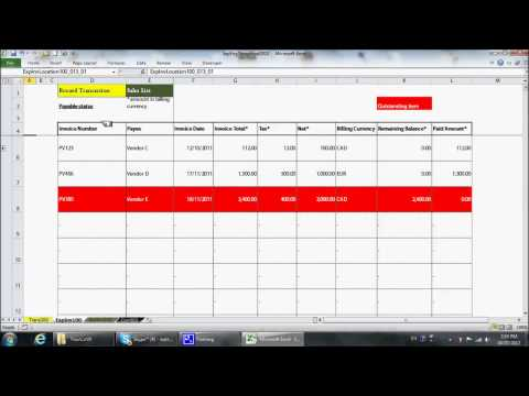 Simple Excel Bookkeeping Template