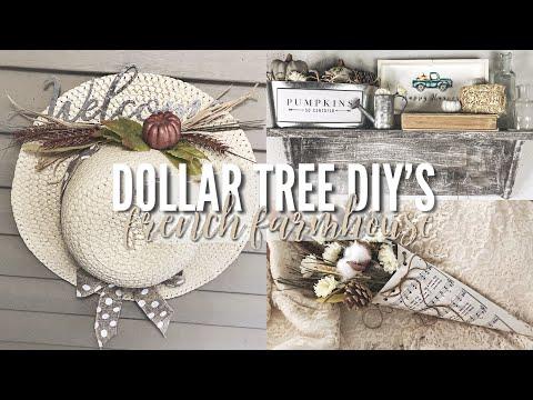 FALL DOLLAR TREE DIY'S | French Farmhouse Fall Decor!