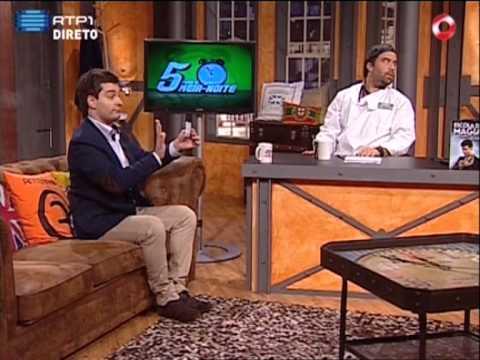 """João Miranda no """"5 para a meia noite"""" - RTP 1"""