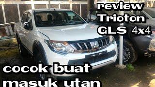 Review Mitsubishi Triton type GLS 4x4 manual 5speed Indonesia